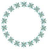kwiecisty ramowy round Obraz Royalty Free