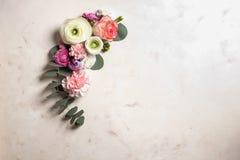 kwiecisty ramowy round Fotografia Royalty Free