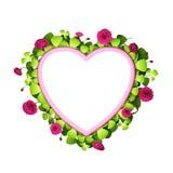 kwiecisty ramowy serce Zdjęcie Stock
