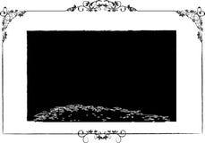 kwiecisty ramowy wektora Fotografia Stock