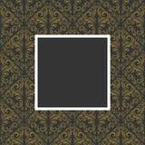 kwiecisty ramowy złoty Zdjęcia Stock