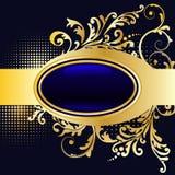 kwiecisty ramowy złoty Zdjęcia Royalty Free