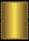 kwiecisty ramowy złoty wektorowy rocznik Ilustracja Wektor