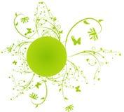 kwiecisty ramy zieleni zawijas Obraz Stock