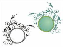 Kwiecisty round ramy wzór Zdjęcia Royalty Free