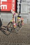 Kwiecisty rowerowy Amsterdam zdjęcie royalty free
