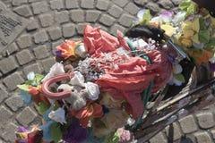 Kwiecisty rowerowy Amsterdam zdjęcia stock