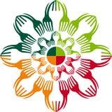 Kwiecisty rozwidlenie logo ilustracja wektor