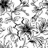 Kwiecisty seFloral bezszwowy wzór Abstrakcjonistyczna ozdobna kwiatu rocznika tekstura Dekoracyjna ornamentacyjna tkanina, tapeta ilustracja wektor