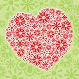 kwiecisty serce Zdjęcie Royalty Free