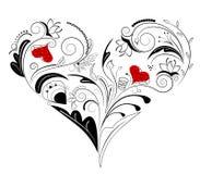 kwiecisty serce ilustracja wektor