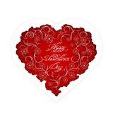 Kwiecisty serce z ręcznie pisany inskrypcją Obraz Stock