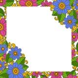 Kwiecisty szablonu wektor Rama dla twój teksta z kwiatem lub fotografii Zdjęcia Stock