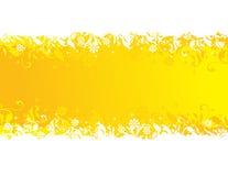 kwiecisty sztandaru kolor żółty royalty ilustracja