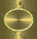 kwiecisty tła złoto Obraz Royalty Free
