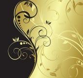 kwiecisty tła złoto Zdjęcia Royalty Free