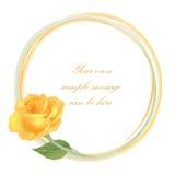 Kwiecisty tło. Kwiat róży rama Obraz Royalty Free