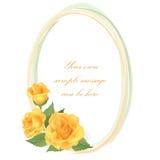 Kwiecisty tło. Kwiat róży rama Obrazy Royalty Free