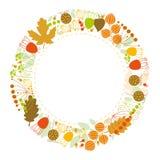 Kwiecisty tło, kwiecista rama, jesień Zdjęcia Royalty Free