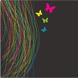 kwiecisty tło motyl ilustracja wektor