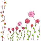 Kwiecisty tło róże Obrazy Stock