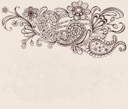 kwiecisty tło rocznik ilustracji