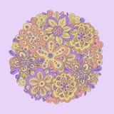 kwiecisty tło w wektorze robić śliczna kreskówka kwitnie Obraz Royalty Free