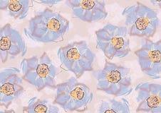 Kwiecisty tło z kwiatami leluja royalty ilustracja