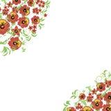 Kwiecisty tło z liśćmi, zawijasy tradycyjny ornamentu rosjanin Zdjęcie Stock