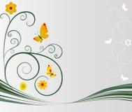 Kwiecisty tło ilustracji