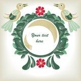 Kwiecisty tło z ptakami Obraz Royalty Free