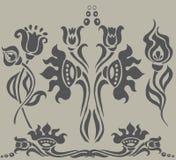 kwiecisty tatuaż Obrazy Royalty Free