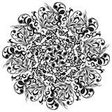 Kwiecisty tatuaż, Azjatyccy ornamenty, wektorowa ilustracja Obraz Stock