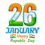 Kwiecisty tricolor tło dla 26th Stycznia republiki Szczęśliwego dnia India Obraz Stock