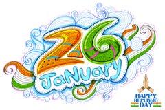 Kwiecisty tricolor tło dla 26th Stycznia republiki Szczęśliwego dnia India Fotografia Royalty Free