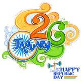Kwiecisty tricolor tło dla 26th Stycznia republiki Szczęśliwego dnia India Zdjęcia Royalty Free