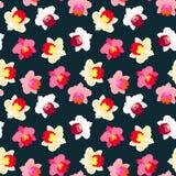 Kwiecisty tropikalny wzór z storczykowymi kwiatami Obraz Royalty Free