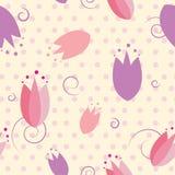 Kwiecisty tulipanowy bezszwowy wzór Obraz Stock