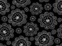 Kwiecisty wektorowy bezszwowy wzór z obliczającą stokrotką kwitnie royalty ilustracja