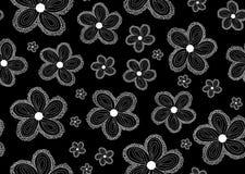 Kwiecisty wektorowy bezszwowy wzór z obliczającymi kwiatami royalty ilustracja