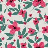 Kwiecisty wektoru wzór Bezszwowi doodle kwiaty Fotografia Royalty Free