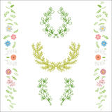 Kwiecisty wianek dekoraci wektor Fotografia Royalty Free