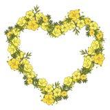 Kwiecisty wianek robić egzotyczni kwiaty Zdjęcia Royalty Free