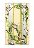Kwiecisty witrażu wzór ilustracja wektor