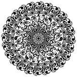 Kwiecisty wzór, azjata ornamenty, tatuaż, wektorowa ilustracja Obrazy Stock