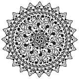 Kwiecisty wzór, azjata ornamenty, wektorowy tatuaż Zdjęcie Royalty Free