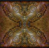 Kwiecisty wzór na brown tle ilustracja wektor