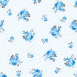 Kwiecisty wzór z błękitnymi różami Zdjęcia Stock