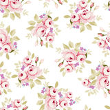 Kwiecisty wzór z małymi różowymi różami Obraz Royalty Free
