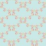 Kwiecisty wzór z małymi różowymi różami Zdjęcie Stock